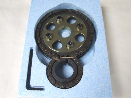 Vernier timing chain set