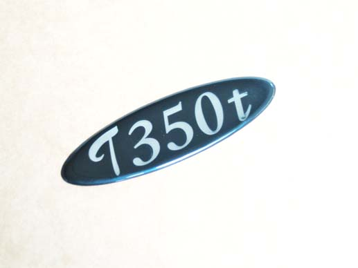 T350T sticky boot badge